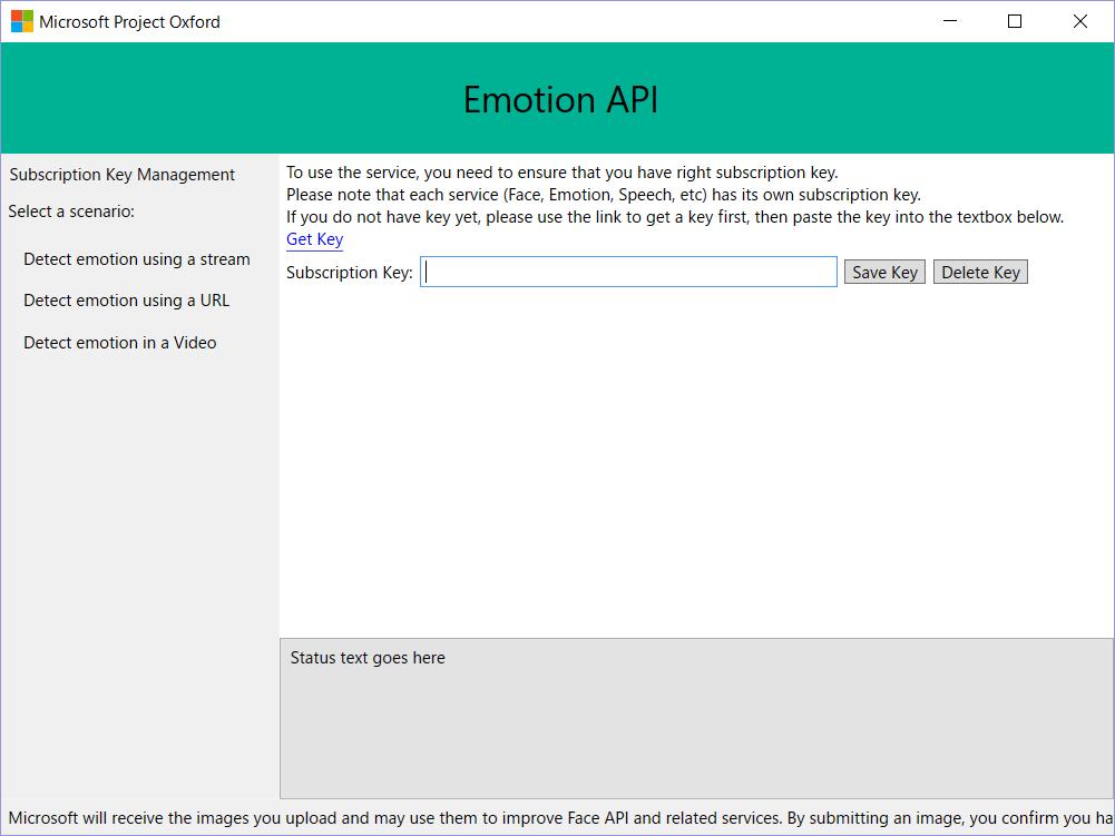サンプルアプリの画面