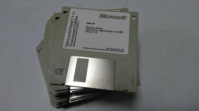 Visual C++のインストールフロッピーディスク