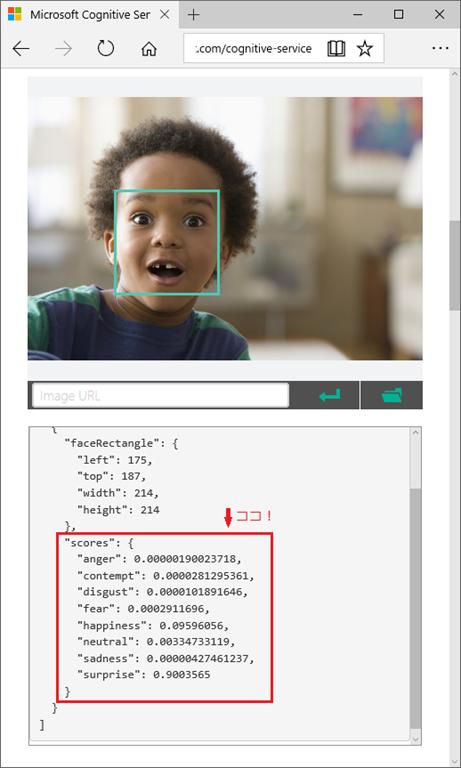 Emotion APIの画面